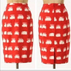Anthro Corey Lynn Calter Ackee Pencil Skirt Brush
